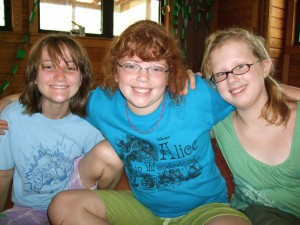 Camp Brave Heart Campers Anastasia, Emma and Madison